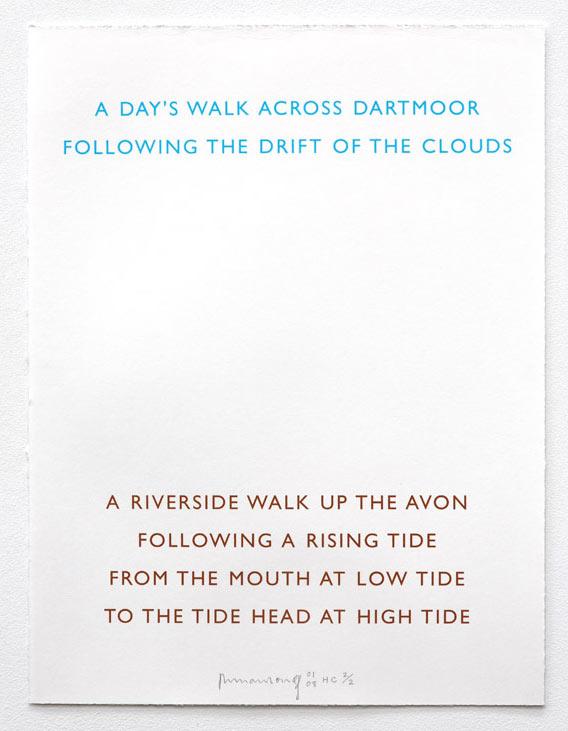Two Walks by Richard Long