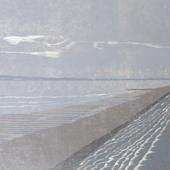 'Severn walk towards Oldbury ' reduction woodcut 49x69cm 2011 (1)